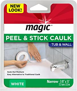 Magic Tub and Wall Peel and Caulk Strip - Create a Tight Seal Between the Bathtub and Wall to Keep Moisture Out - 7/8 Inch...