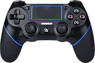 Best PS4 Controller Wireless Bluetooth Game Controller Dualshock Gamepad for Playstation 4 Touch Panel Gamepad with Dual Vibration, Instant Sharing of joysticks (Blue) Review