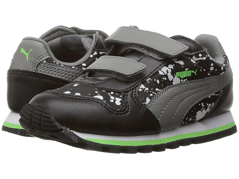 Puma Kids St Runner NL Splatz V INF (Toddler) (Puma Black/Quiet Shade) Boys Shoes
