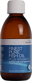 Pharmax - Finest Pure Fish Oil Plus Vitamin D - Supports Optimal Bone, Cardiovascular, and Cognitive Health - 6.8 fl. oz.