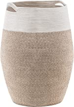 YOUDENOVA Laundry Hamper Large Woven Cotton Rope Laundry Basket Dirty Clothes Hamper for Laundry or Bedroom – 25.6 Height ...