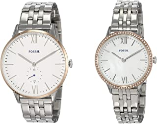 Fossil Analog White Dial Men's Watch-FS5562SET