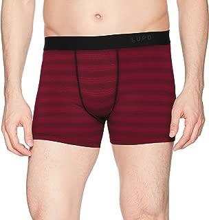Lupo Mens Striped Fashion Stretch Microfiber Boxer Briefs Stripes Boxer Briefs