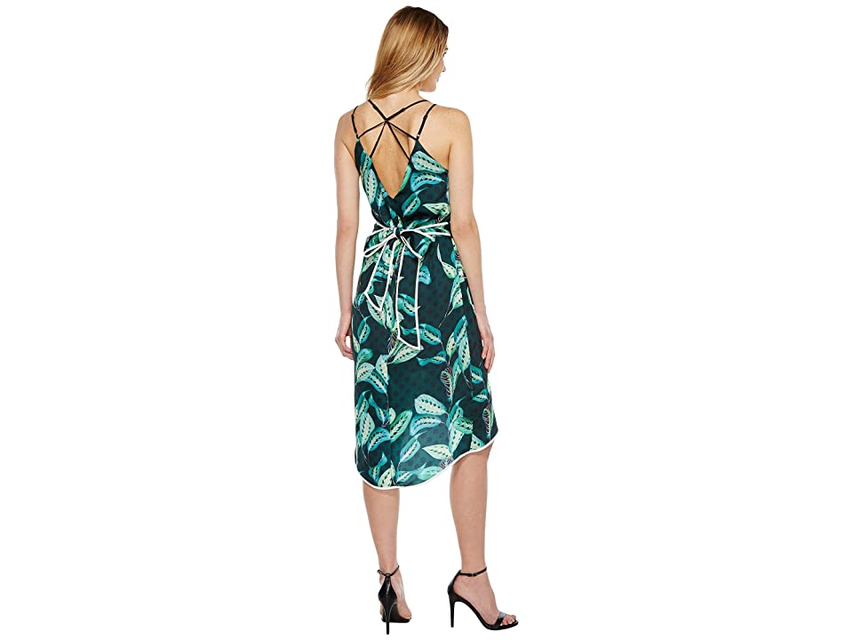 Adelyn Rae Havana Woven Printed Slip Dress (Green) Women