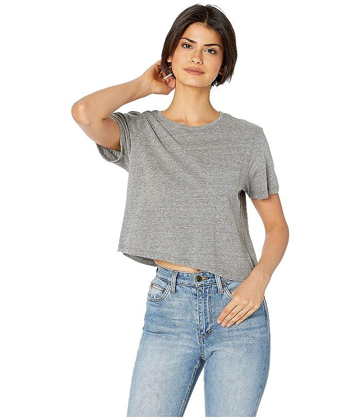 Richer Poorer Boxy Crop Tee (Heather Grey) Women's T Shirt