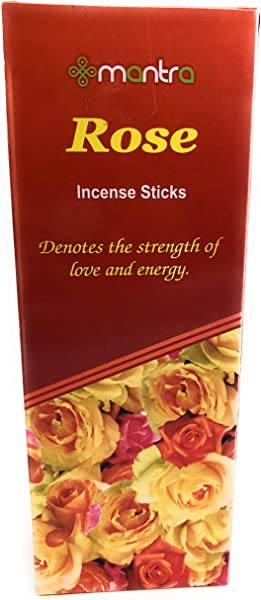 Mantra Premium Rose Incense Sticks Gift Pack 6 Boxes X 20 Sticks Total 120 Sticks