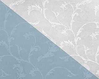 Papier Peint Floral EDEM 83012BR60 Papier Peint Intissé à Peindre Texturé  Avec Des Ornements Mat Blanc