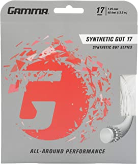 Gamma Synthetic Gut Series Tennis Racket String - Balance Of Playability And Extra Durability For All Playing Levels & Styles - 16, 17 or 18 Gauge (Black, Gold, Optic Yellow, Red, Royal Blue, White)