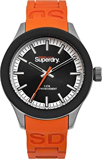 Superdry Scuba Track & Field Analog Black Dial Men's Watch-SYG211O