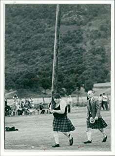 Vintage photo of but theres more to the highlands than the traditional image of kilts and cabers.