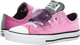 Converse Kids Chuck Taylor All Star Velvet Double Tongue - Ox (Little Kid/Big Kid)
