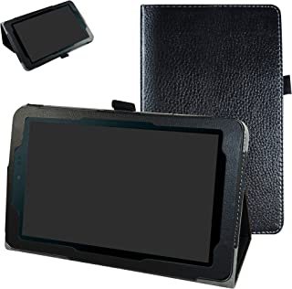 "Sprint Slate 8"" Tablet Case,Mama Mouth PU Leather Folio 2-Folding Stand Cover for 8"" Sprint Slate 8 (AQT80) / Sprint Slate 8 Plus Android Tablet,Black"