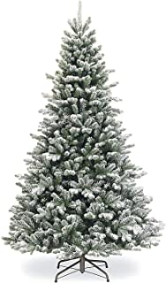 SPARKS Flocked Artificial Christmas Tree 7.5 ft Unlit. Beautiful Crafted Flocked Snow Tree With1500 Branch Tips. Perfect H...