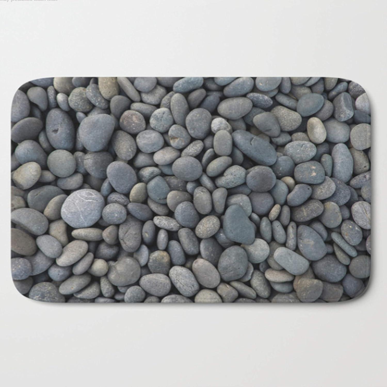 Pebbles Bath Mat Gray Bathroom Decor Pebble mats Greys Grey Soldering store