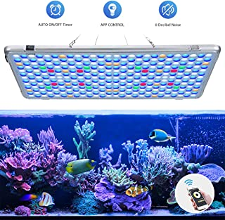 Bozily Aquarium Lights LED 300W, Full Spectrum Coral Reef Light for Aquarium Tanks Lighting APP Control with Auto On/Off Dimming & Timer for Saltwater Freshwater Fish Grow Marine Tank