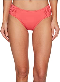 Tommy Bahama Pearl High-Waist Side-Shirred Bikini Bottom