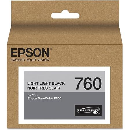 Epson T760920 (760) UltraChrome HD Ink (Light Light Black) in Retail Packaging