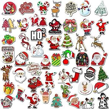 Tuopuda Adesivi Natalizi per Regali 4 Fogli 3D Sticker Decalcomanie Glitter Natale per Bambini Adesivi per Scrapbooking Etichette Diario Album Calendari Biglietti d/'Auguri Regali Fai da Te