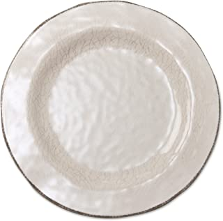 tag - Veranda Melamine Dinner Plate, Durable, BPA-Free and Great for Outdoor or Casual Meals, Ivory (Set Of 4)