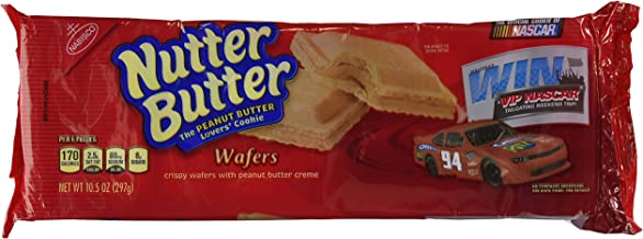 NUTTER BUTTER COOKIE PATTIES PEANUT BUTTER CREME WAFERS 10.5 OZ