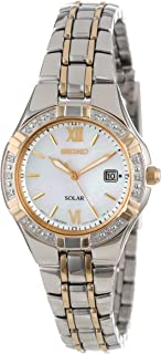 Women's SUT068 Dress Solar Classic Diamond-Accented Two-Tone Stainless Steel Watch