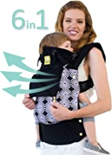LÍLLÉbaby Complete All Seasons SIX-Position 360° Ergonomic Baby & Child Carrier, Black/Soho - Lumbar Support