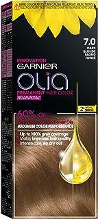 صبغة شعر خالية من الامونيا، مع زيوت بنسبة 60% 7.0 بلون اشقر داكن من غارنييه اوليا