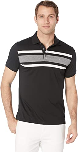 Short Sleeve Large Stripe Polo