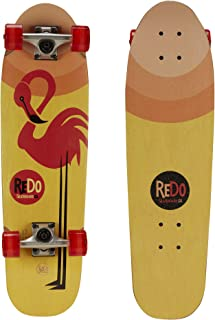 "ReDo Skateboard 28.5"" x 8"" Zodiac Premium Cruiser Flamingo Complete Skateboard for Boys Girls Kids Adults"