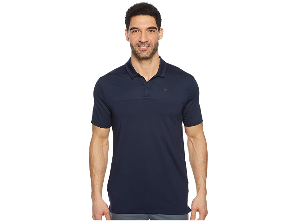 Nike Golf Color Block Dry Polo (College Navy/College Navy/Flat Silver) Men