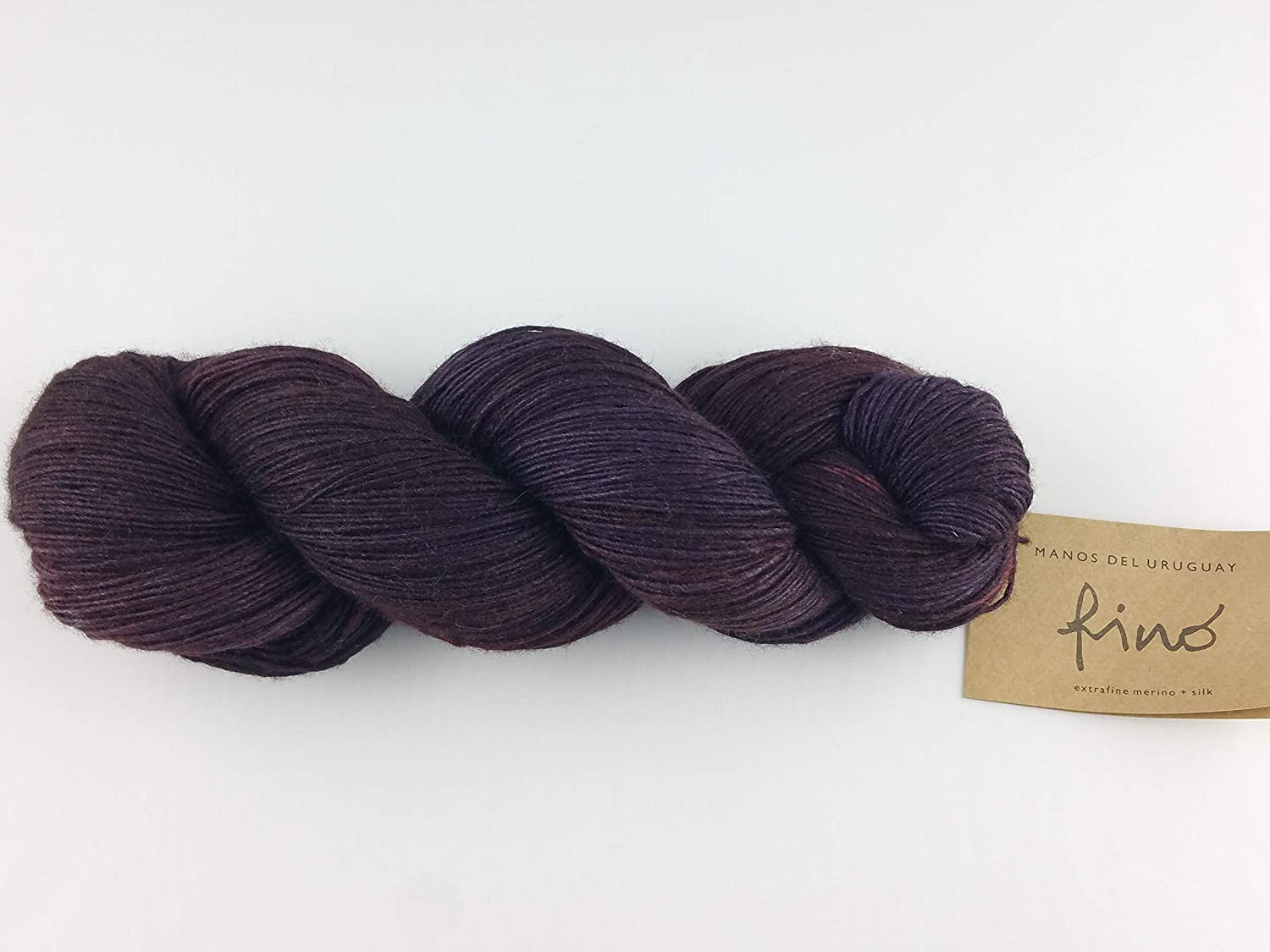 Manos Del Rapid rise Uruguay Silk Blend Fino 100gm Colorado Springs Mall Hand Dyed 438 - Poison