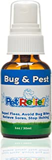Flea Control Pet Relief, Flea Tick Spray For Dogs, 100% Natural,! 30ml Safe Medicine For Fleas Dogs, Better Than Flea Collar Or Comb, Flea And Tick Prevention For Dogs, Made In USA
