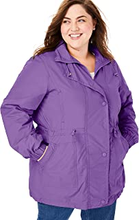 Woman Within Plus Size Weather-Resistant Taslon Anorak