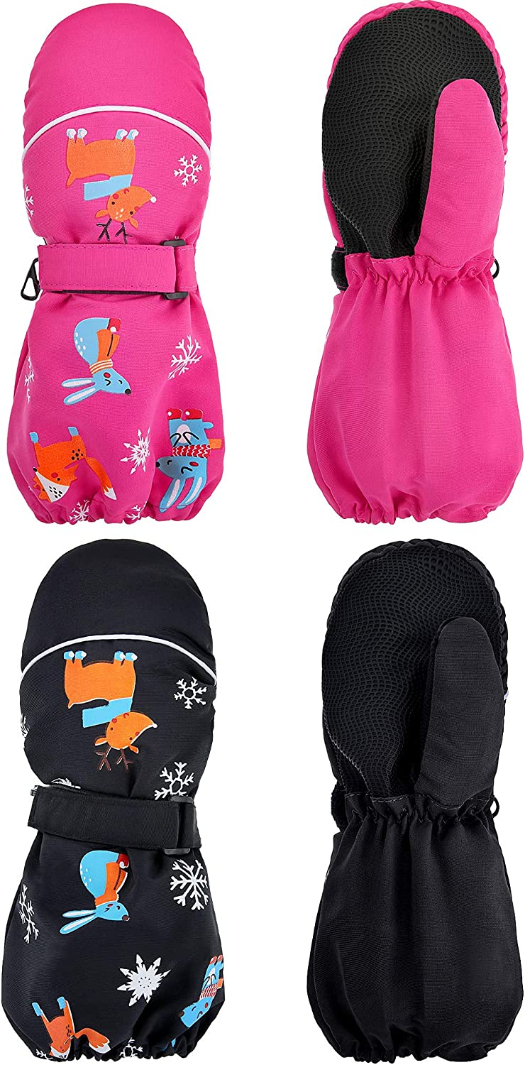 2 Pairs Kids Thicken Snow Store Shipping included Mittens W Mitten Unisex Ski Waterproof