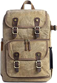 Neumora Camera Backpack with Waterproof Laptop Compartment for SLR/DSLR Photographer Backpack Camera Case (Khaki)