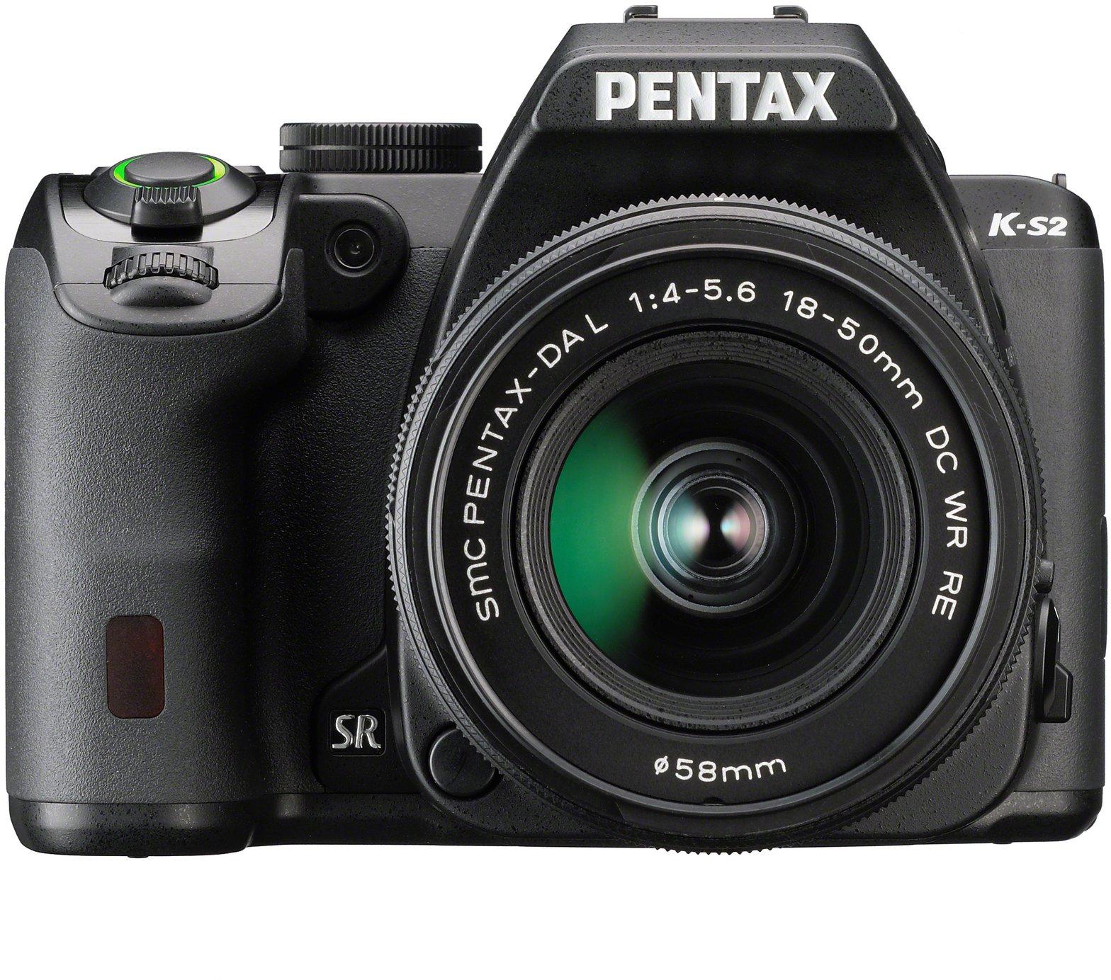 Pentax K-S2+18-50WR - Cámara fotográfica digital, color negro ...