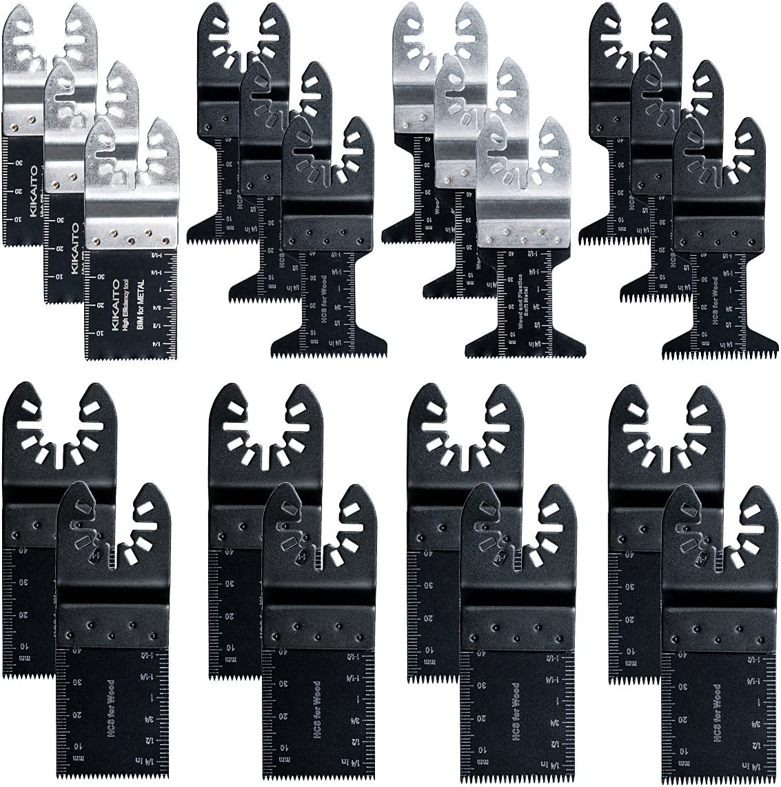 20pc Oscillating National uniform free shipping Saw Blades New product type Metal Re Quick tool Wood