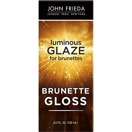 John Frieda Brilliant Brunette Luminous Glaze, Colour Enhancing Glaze, Designed to Fill Damaged Areas for Smooth, Glossy Brown Color, 6.5 Ounce (Packaging May Vary)