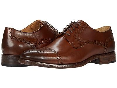 Johnston & Murphy Lewis Cap Toe (Tan Full Grain Leather) Men