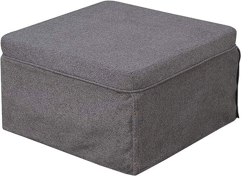 Convenience Concepts 143709FSGY Ottoman Soft Gray Fabric