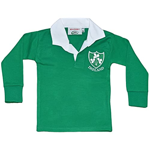 c7b56d9af9b Unisex Kids Rugby Shirt Newborn Boys Girls Sizes Newborn to 3 Years Ireland  Supporters Top Long