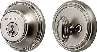 Baldwin 93800-008 Prestige 380 Round Single Cylinder Deadbolt Featuring SmartKey in Satin Nickel