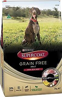 Supercoat Grain Free Beef Dog Food 15kg, Adult, Medium