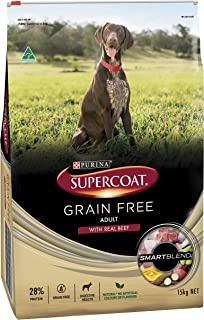 Supercoat Grain Free Beef Dog Food 15 kg 1 Pack Medium