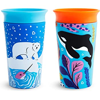 2 Pack 3 Piece Set Munchkin Sippy and Straw Lids for Miracle 360 Cups