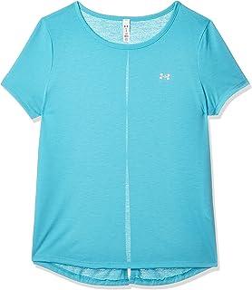 Under Armour Women's Ua Whisperlight Ss T-Shirt, Blue (Breathtaking Blue/Metallic Silver), Medium