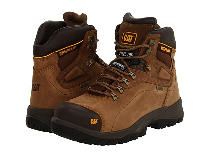 Caterpillar  Diagnostic Hi WP Steel Toe (Dark Beige) Mens Work Boots