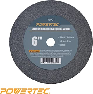 Aluminum Oxide 10 Diameter PFERD 61770 Bench Grinding Wheel 1 Thick 2485 Maximum RPM 46 Grit 1-1//4 Arbor Hole