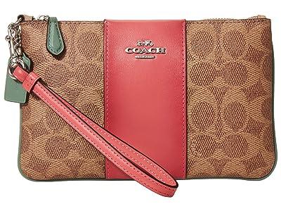 COACH Small Wristlet (LH/Tan Sand Orchid) Handbags