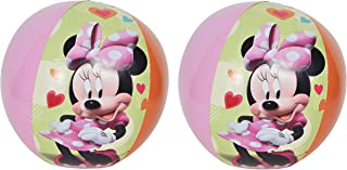 UPD Disney Inflatable Beach Balls - 2 Pack - Minnie Mouse, Daisy Duck Print